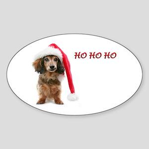Ho Ho Ho Oval Sticker