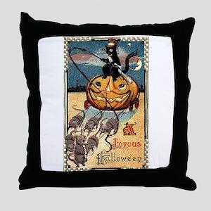 Joyous Halloween Throw Pillow