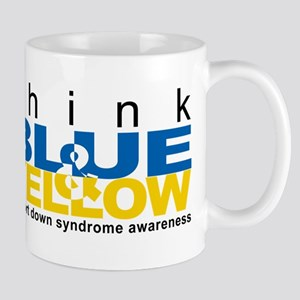 Think Blue And Yellow Mug