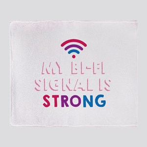 Gay Pride Lesbian LGBT My BI-FI Sign Throw Blanket