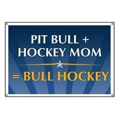Anti-Palin Bull Hockey Banner