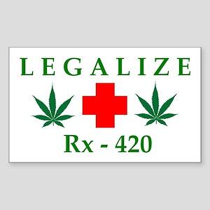 LEGALIZE RX-420 Rectangle Sticker