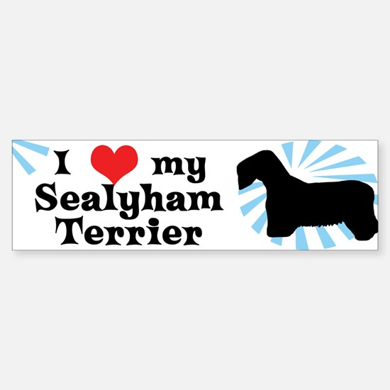 I Love My Sealyham Terrier Bumper Bumper Bumper Sticker