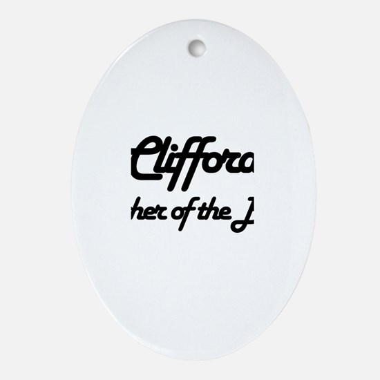 Clifford - Father of Bride Oval Ornament