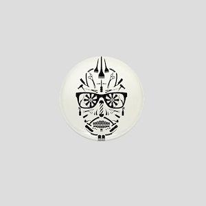 barbershop punk skull Mini Button