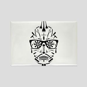 barbershop punk skull Magnets