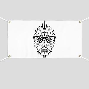barbershop punk skull Banner