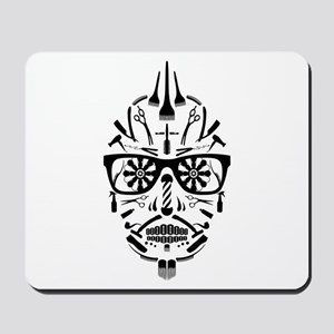 barbershop punk skull Mousepad