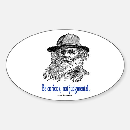 WHITMAN QUOTE Oval Decal