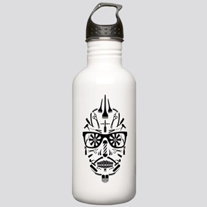 barbershop punk skull Water Bottle