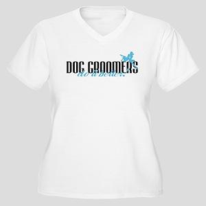 Dog Groomers Do It Better! Women's Plus Size V-Nec