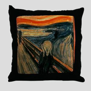 The Scream Throw Pillow