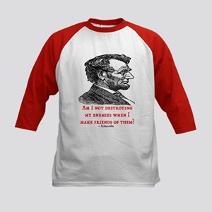 LINCOLN ENEMIES QUOTE Kids Baseball Jersey
