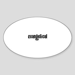 Evangelical Oval Sticker