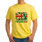 I'm With UK Yellow T-Shirt
