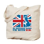 I'm With UK Tote Bag