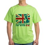 I'm With UK Green T-Shirt
