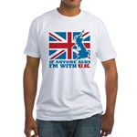 I'm With UK Fitted T-Shirt