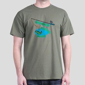 Grandpop's Fishing Buddy Dark T-Shirt