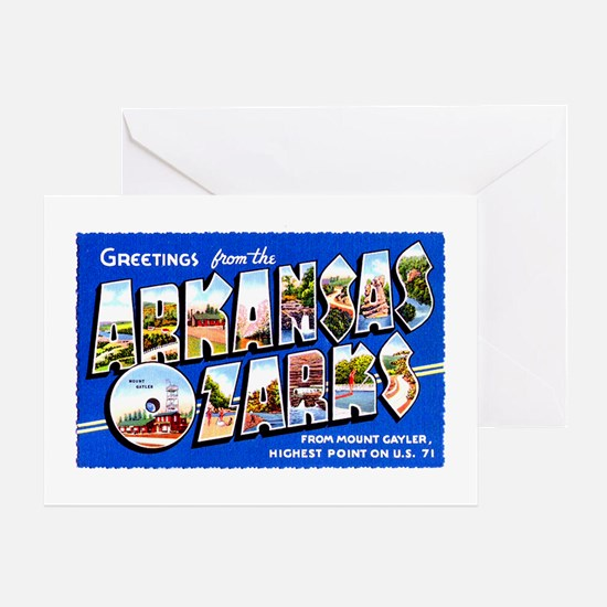 Arkansas Ozarks Greetings Greeting Card
