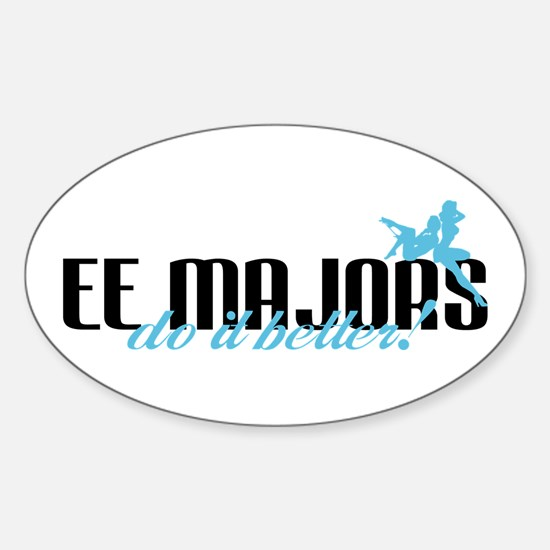 EE Majors Do It Better! Oval Decal