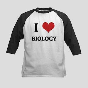 I Love Biology Kids Baseball Jersey