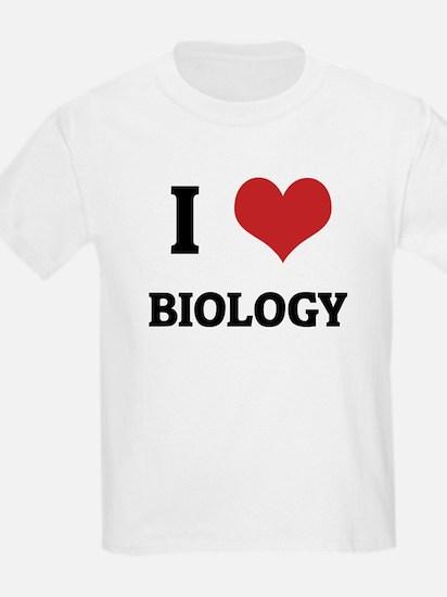 I Love Biology Kids T-Shirt