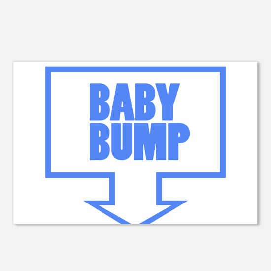 BABY BUMP BABY BLUE Postcards (Package of 8)