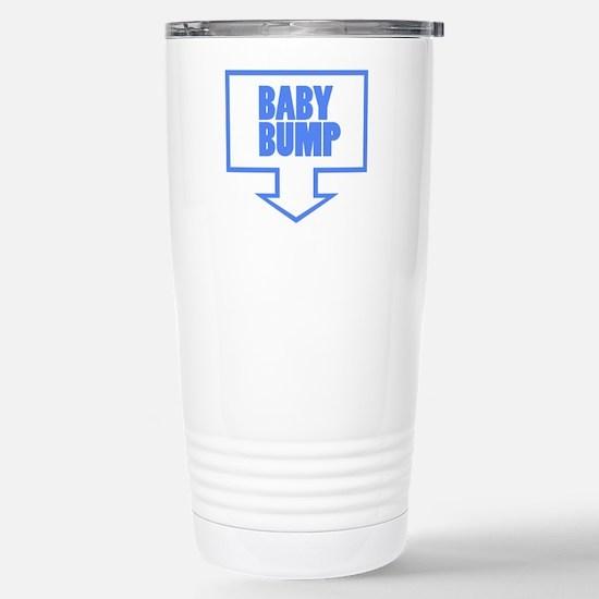 BABY BUMP BABY BLUE Stainless Steel Travel Mug
