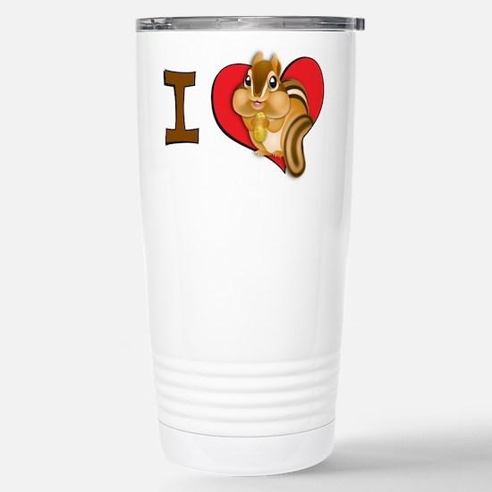 I heart chipmunks Stainless Steel Travel Mug