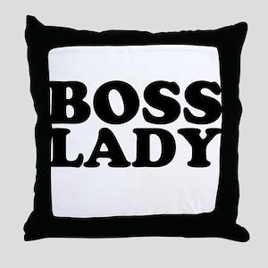 BOSS LADY Throw Pillow