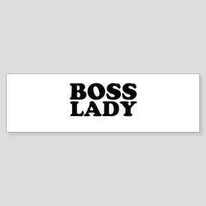 BOSS LADY Bumper Sticker