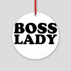 BOSS LADY Ornament (Round)