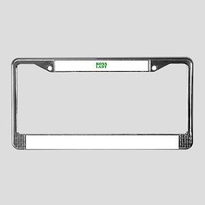 BOSS LADY GREEN License Plate Frame