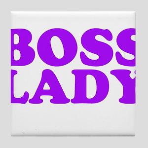 BOSS LADY PURPLE Tile Coaster