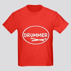 Drummer (oval) Kids Dark T-Shirt