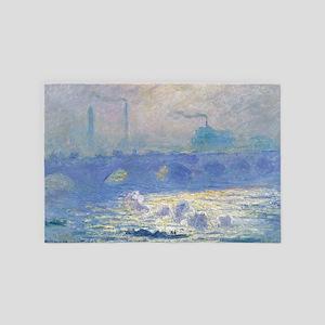Claude Monet Waterloo Bridge 4' x 6' Rug