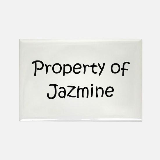 Unique Jazmine Rectangle Magnet