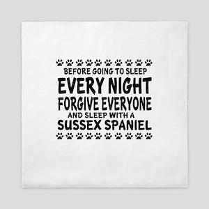 Sleep With Sussex Spaniel Dog Queen Duvet