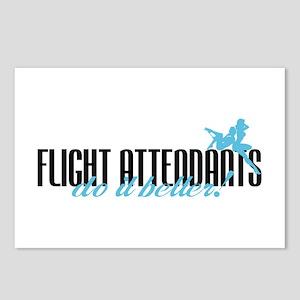 Flight Attendants Do It Better! Postcards (Package
