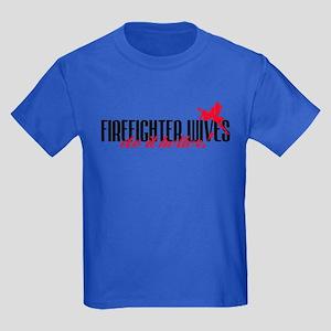 Firefighter Wives Do It Better! Kids Dark T-Shirt