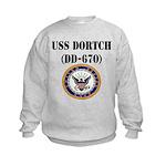 USS DORTCH Kids Sweatshirt