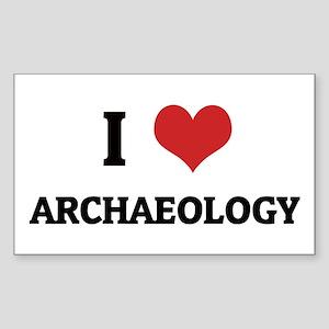 I Love Archaeology Rectangle Sticker