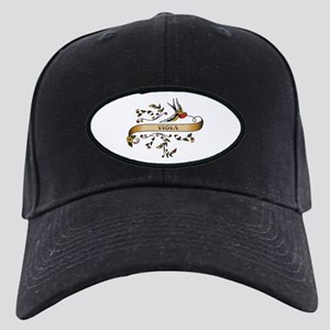 Viola Scroll Black Cap