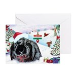 Inky's Winter Christmas Cards 10 Pk, inside text