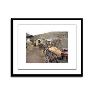 Ghost Town Lane Framed Panel Print
