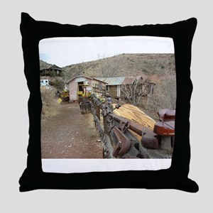 Ghost Town Lane Throw Pillow