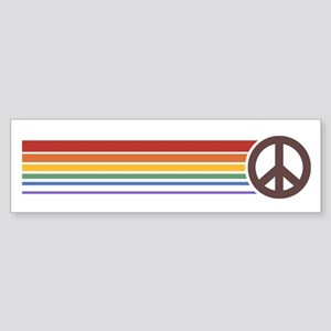 Retro Peace Rainbow Bumper Sticker
