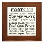Fonts 101 Framed Tile