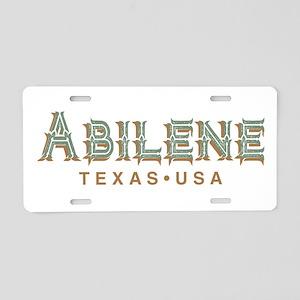 Retro Abilene Aluminum License Plate